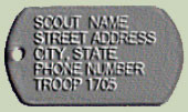 Boy Scouts, Girl Scouts, camp tags