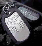 Military ID Dog Tags