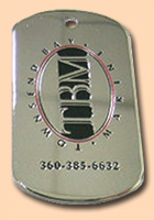 Company Logo Dog Tag